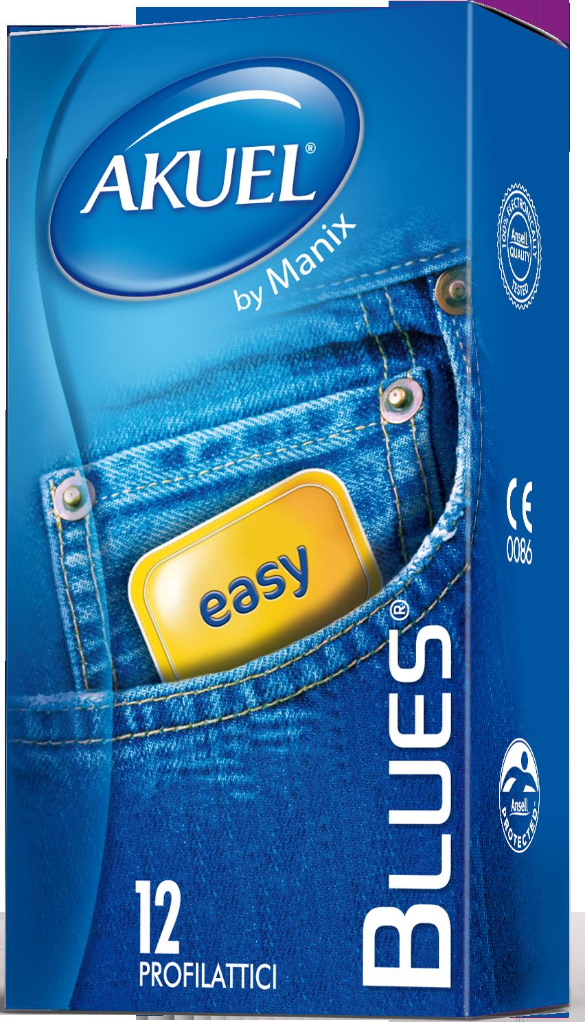 Akuel Blues - preservativi sottili 12 pezzi