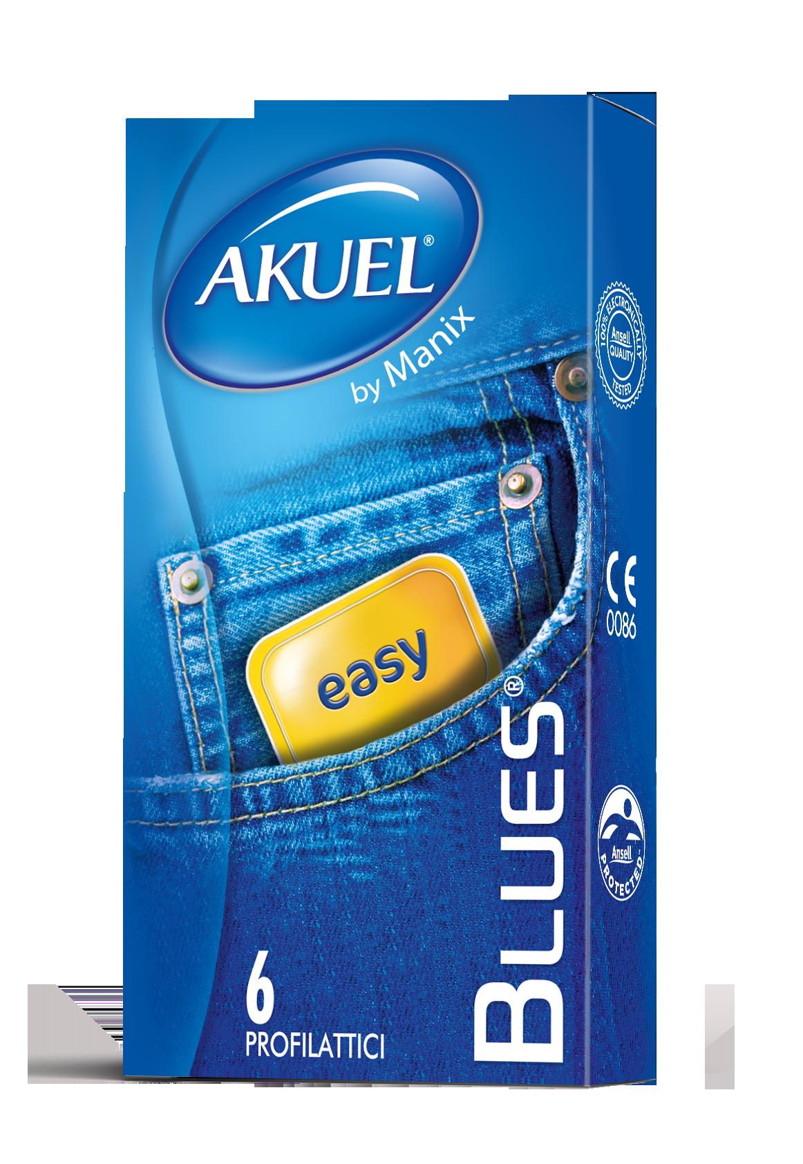 Akuel Blues - preservativi sottili 6 pezzi