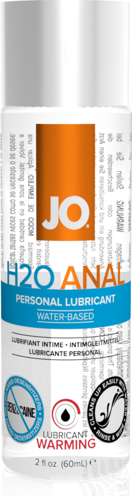 Lubrificante anale System JO Anal H2O warming