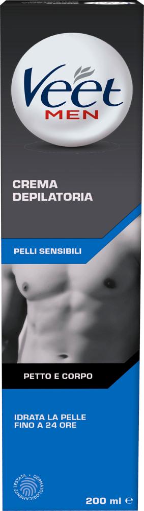 Crema depilatoria Veet for Men pelli sensibili