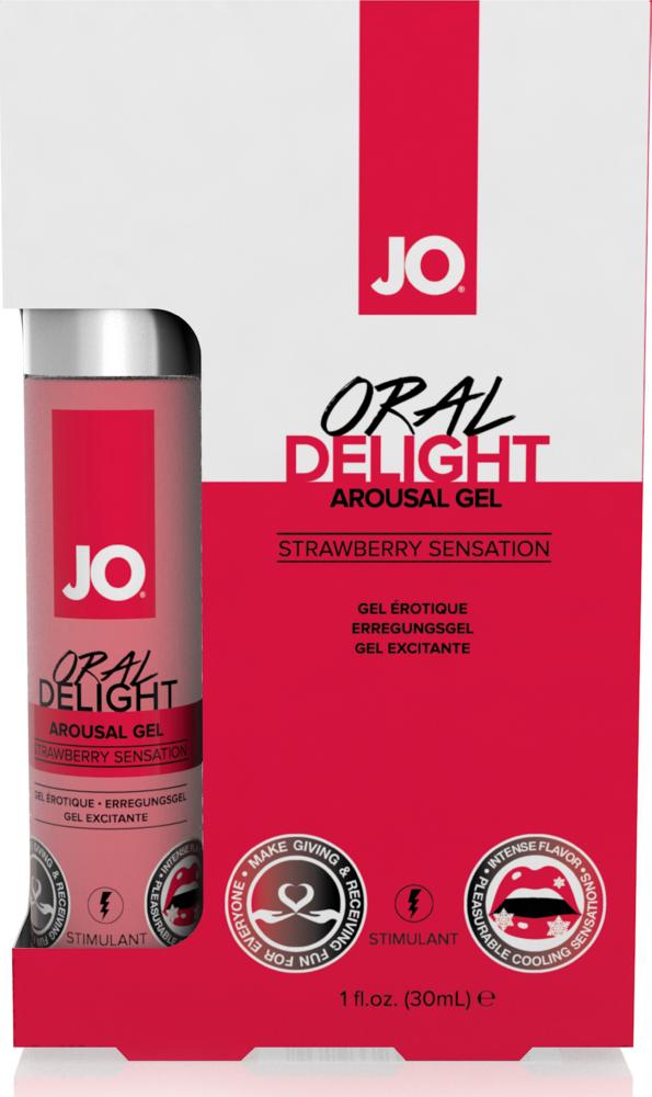 Gel per rapporti orali System Jo Oral Delight Strawberry Sensation