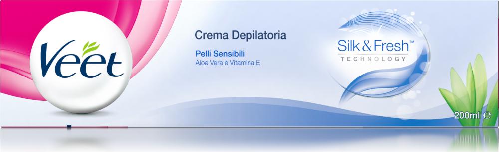 Crema depilatoria Silk & Fresh Technology Pelli Sensibili Veet