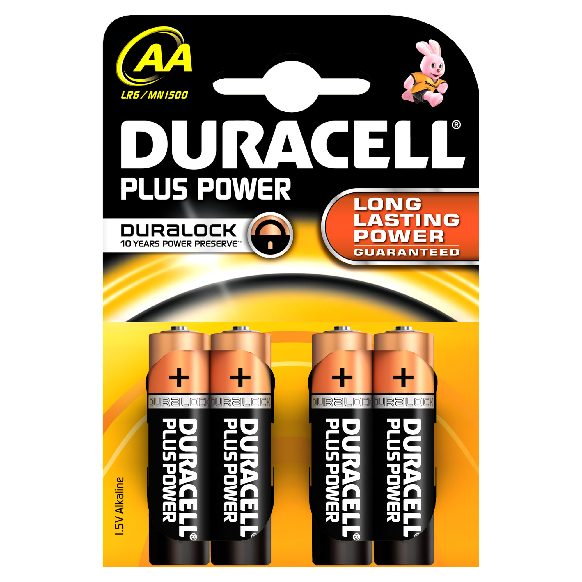 Duracell Plus Power AA - 4 batterie LR6 MN1500