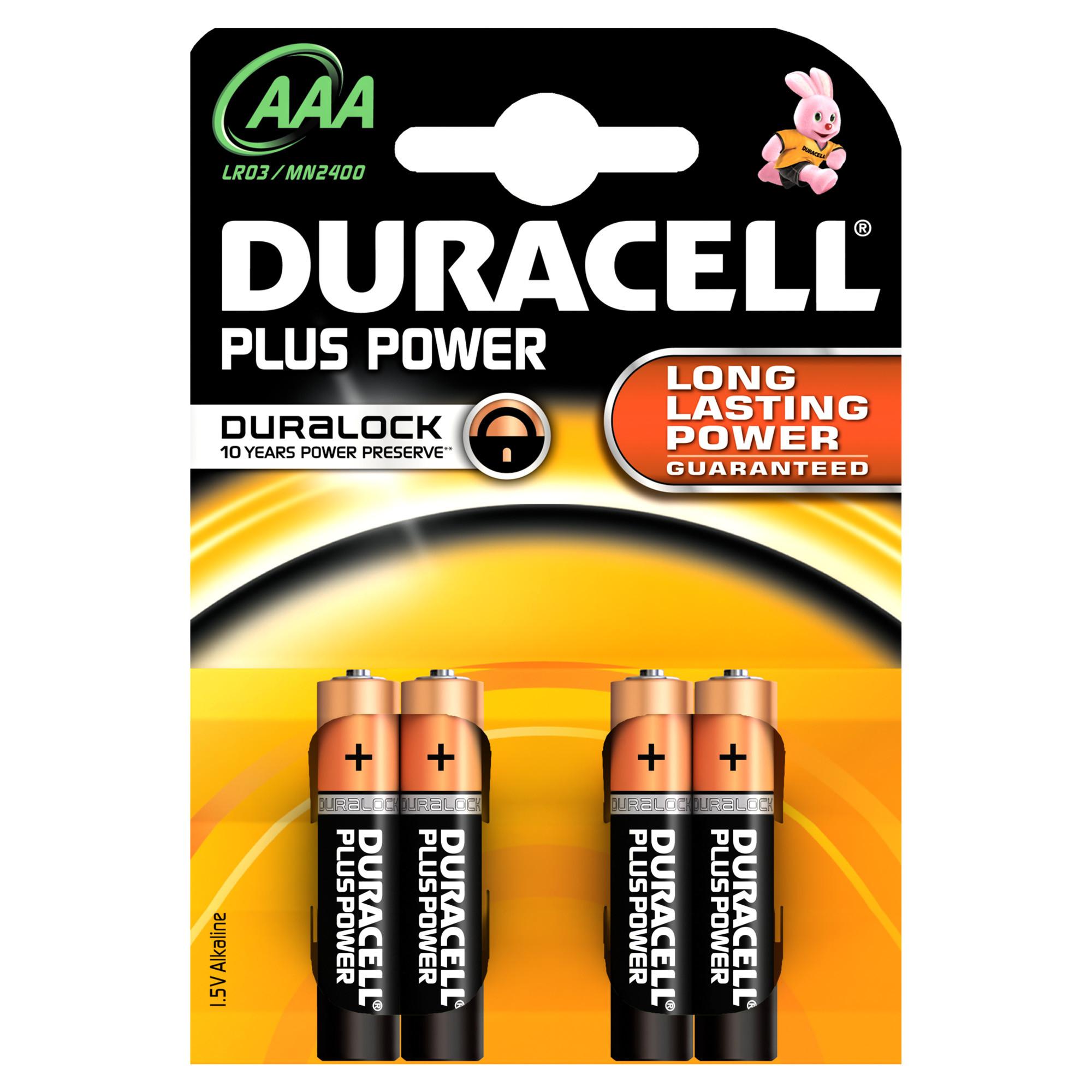 Duracell Plus Power AAA - 4 batterie LR03 MN2400