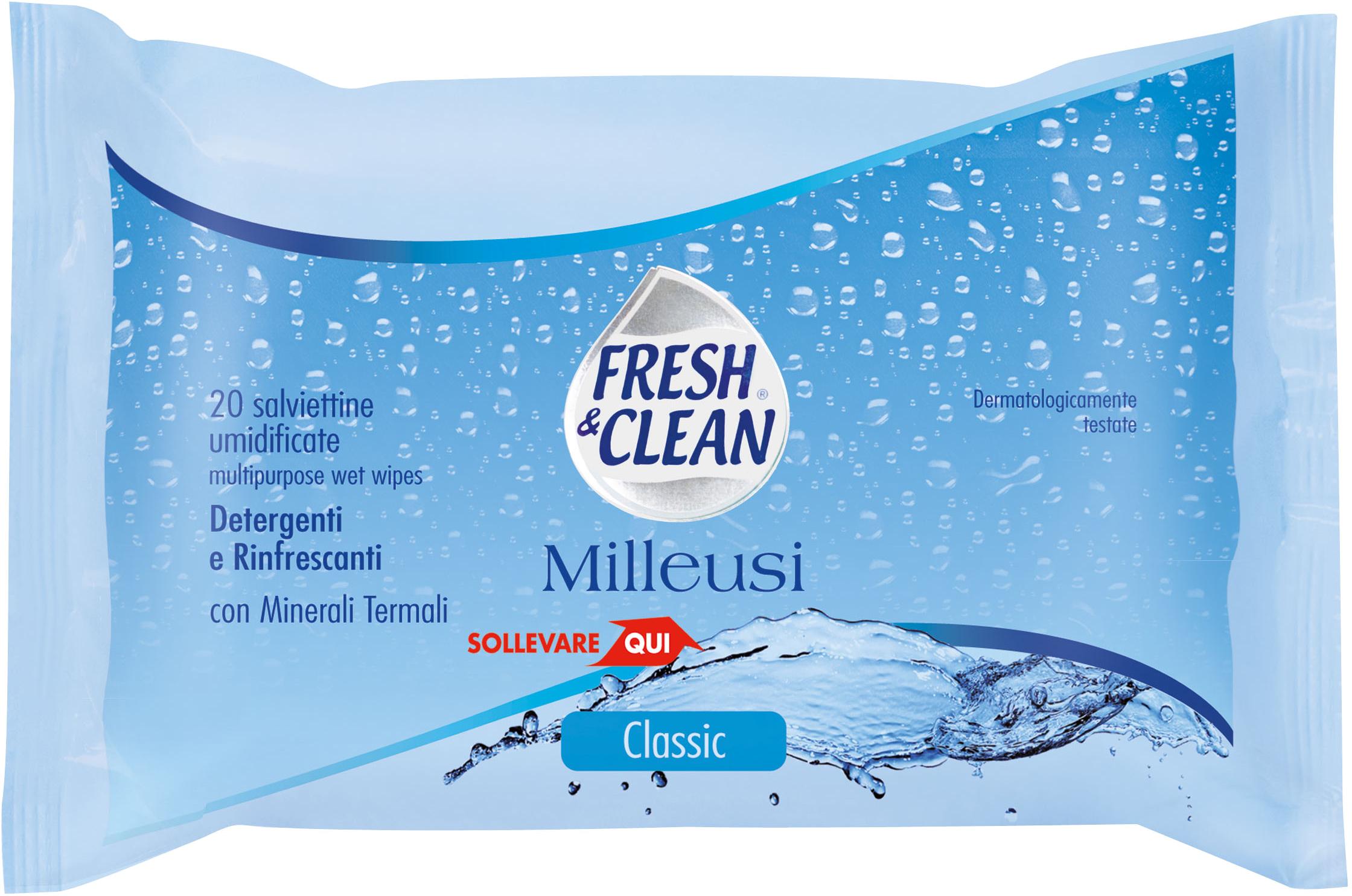 Fresh&Clean Milleusi Classic - salviettine umidificate