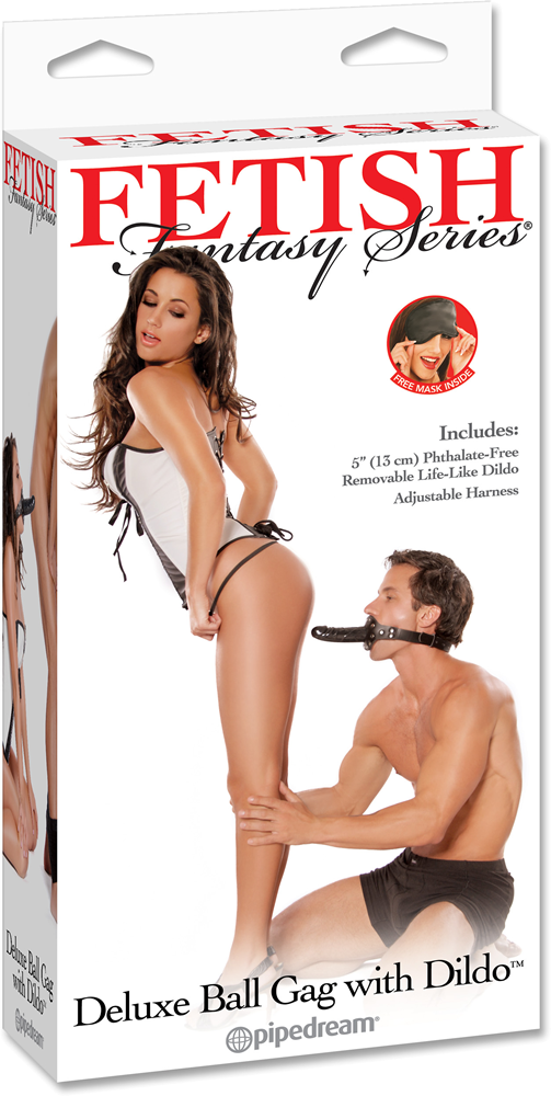 Pipedream Deluxe Ball Gag with Dong - mouth gag