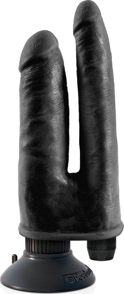 Vibratore Doppio Double Vibrating Double Penetrator King Cock