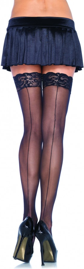 Leg Avenue Lace Top Stockings - autoreggenti con riga
