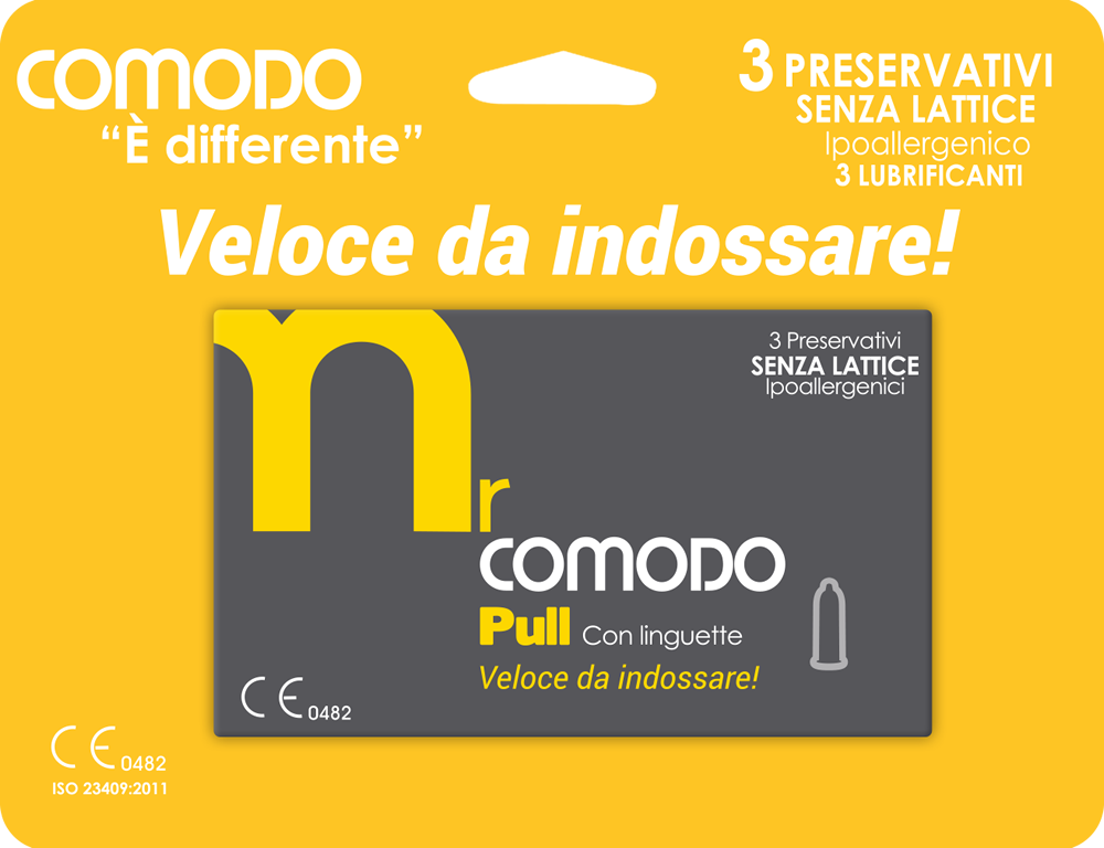 mrComodo Pull - preservativi anallergici con applicatore