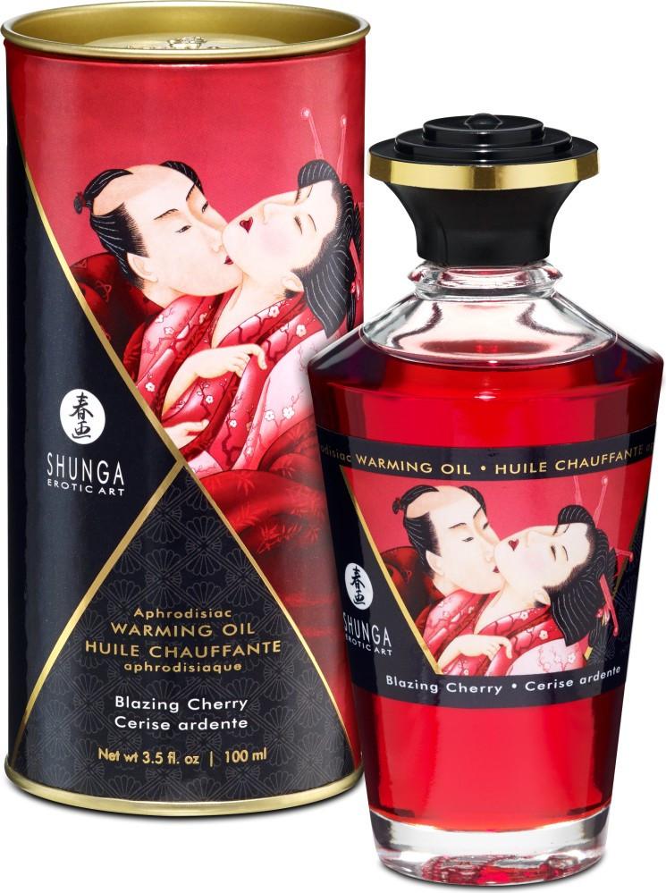 Shunga Aphrodisiac Oil Cherry - olio da massaggio edibile