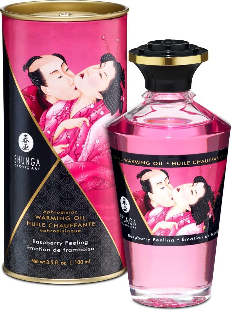 Shunga Aphrodisiac Oil Raspberry - olio da massaggio edibile
