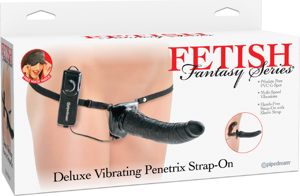 Dildo doppio strap-on Deluxe Vibrating Penetrix Strap