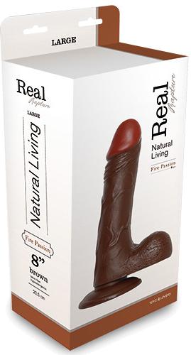 "Toyz4Lovers Real Rapture Brown 8"" - fallo realistico"