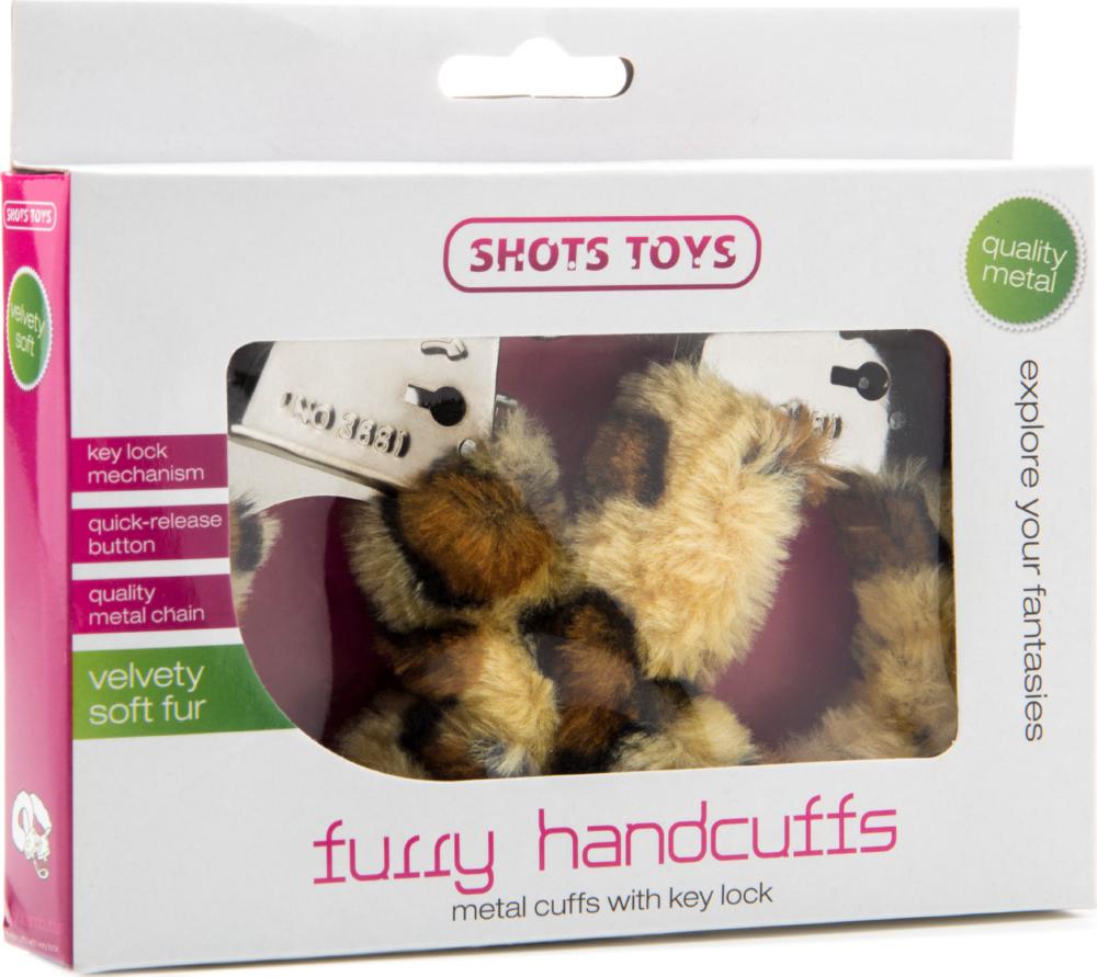 Manette sexy con peluche Furry Handcuff Cheetah Shots Toys
