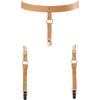 Maze Suspender Belt for Underwear & Stockings - marrone
