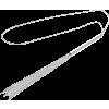 Magnifique Whip Necklace - argento