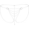 Magnifique BIkini Chain - argento