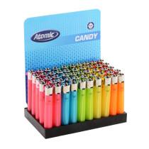 Accendini Candy Semi-trasparente - Box 50 accendini ricaricabili