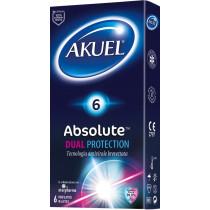 Preservativi con lubrificante anti virale Akuel Absolute Dual Protection