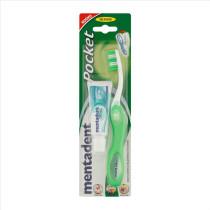 Mentadent Pocket Kit Viaggio kit da viaggio dentifricio e spazzolino
