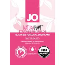 Lubrificante aromatizzato Sachet NaturaLove Organic Strawberry System Jo