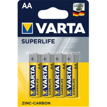 Pile Varta Superlife AA - blister 4 batterie a zinco carbone