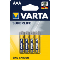Pile Varta Superlife AAA - blister 4 batterie a zinco carbone