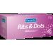 Pasante Ribs and Dots - preservativi stimolanti 144 pezzi